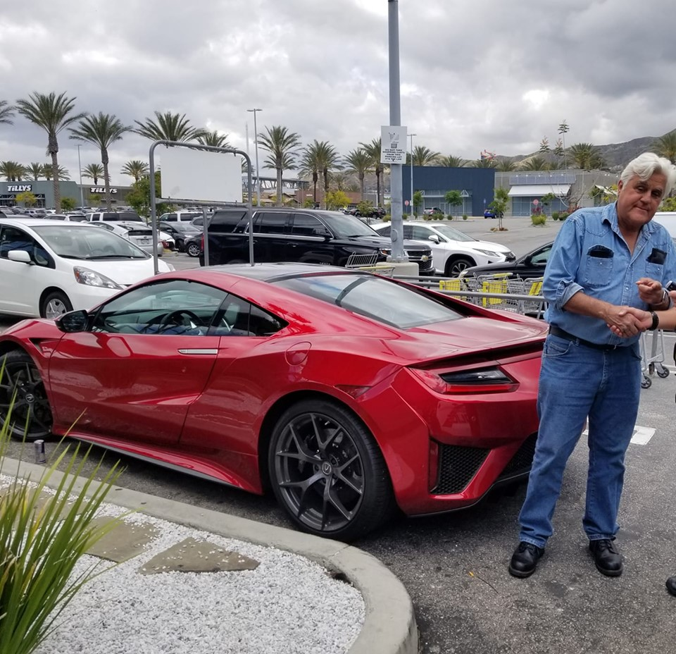 Jay Leno Spotted Daily Driving His 2017 Acura NSX, Says It